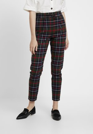 ONLPOPTRASH NEXT CHECK PANT - Broek - black