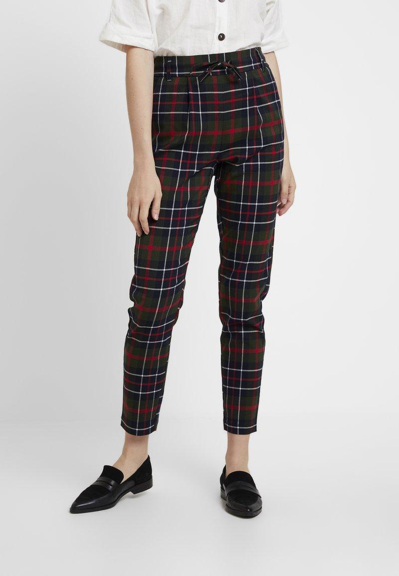 ONLY - ONLPOPTRASH NEXT CHECK PANT - Trousers - black
