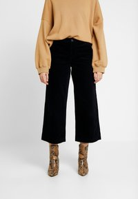 ONLY - ONLMORRIS WIDE CROPPED PANTS - Kangashousut - night sky - 2