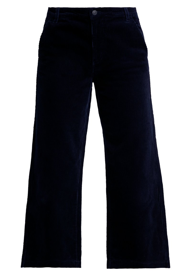 ONLY - ONLMORRIS WIDE CROPPED PANTS - Kangashousut - night sky