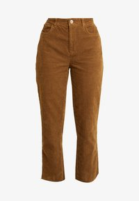 ONLY - ONLEMILY STRAIGHT PANT - Trousers - tobacco brown - 4