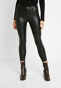 ONLY - ONLLOMO BIKER PANTS - Bukse - black - 0
