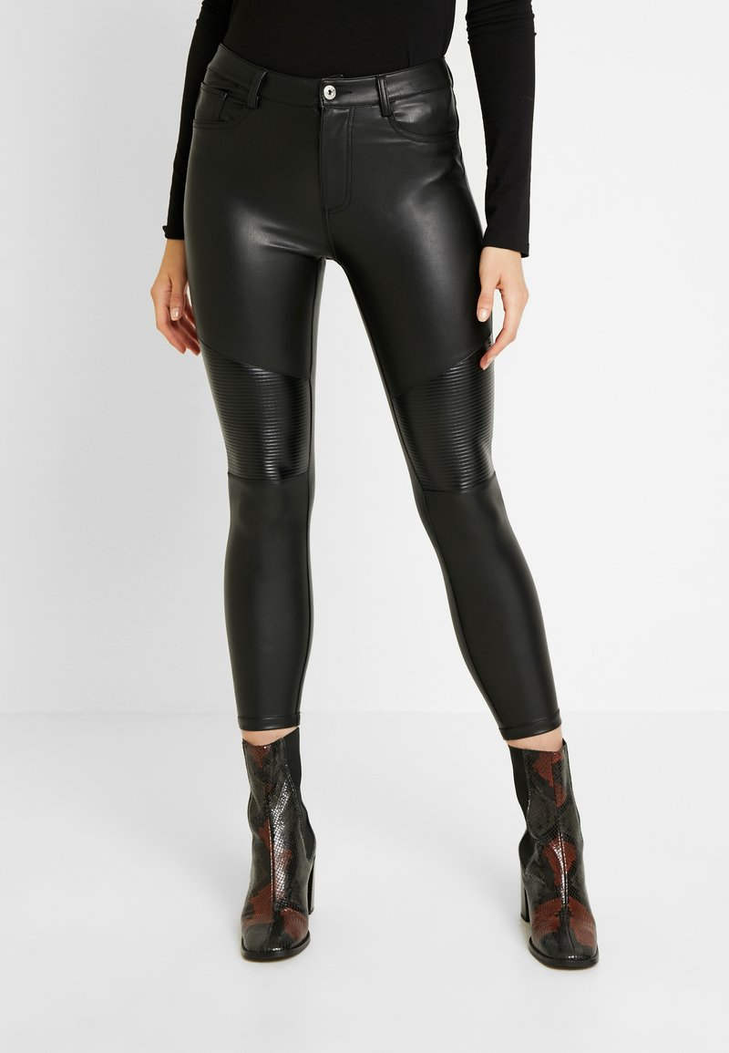 ONLY - ONLLOMO BIKER PANTS - Bukse - black