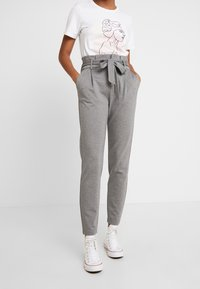 ONLY - ONLPOPTRASH EASY PAPERBAG PANT - Pantalones - medium grey melange - 0