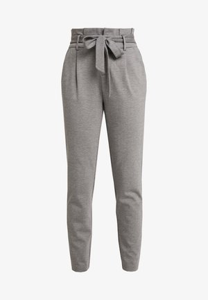 ONLPOPTRASH EASY PAPERBAG PANT - Trousers - medium grey melange