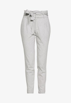 ONLPOPTRASH EASY PAPERBAG PANT - Bukser - light grey melange