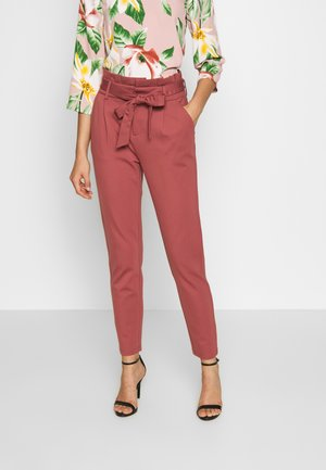 ONLPOPTRASH EASY PAPERBAG PANT - Trousers - apple butter