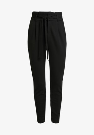 ONLPOPTRASH EASY PAPERBAG PANT - Trousers - black