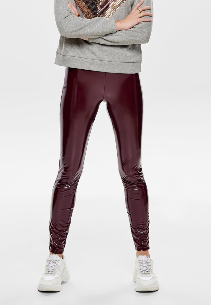 ONLY - Leggings - Trousers - tawny port