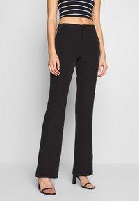 ONLY - ONYZERO MID SWEET FLARED PANT - Bukse - black - 0