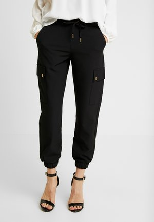 ONLGLOWING CARGO PANTS - Trousers - black