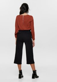 ONLY - HOSE CULOTTE - Trousers - black - 2