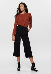ONLY - HOSE CULOTTE - Trousers - black - 1