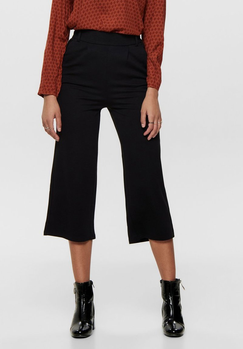 ONLY - HOSE CULOTTE - Trousers - black