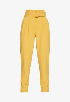 ONLSICA PAPERBAG PANTS - Trousers - spruce yellow