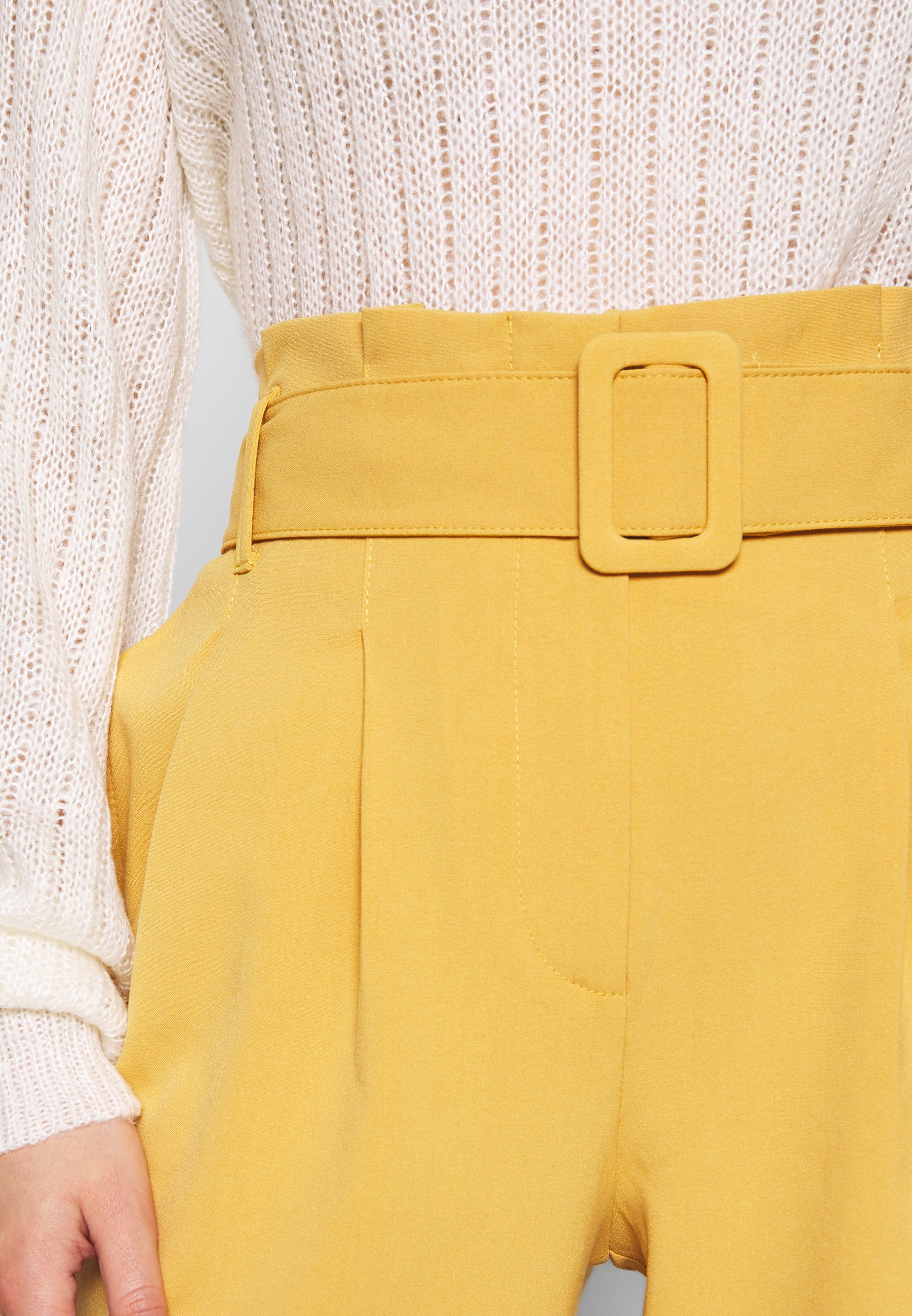 Only Onlsica Paperbag Pants - Tygbyxor Spruce Yellow
