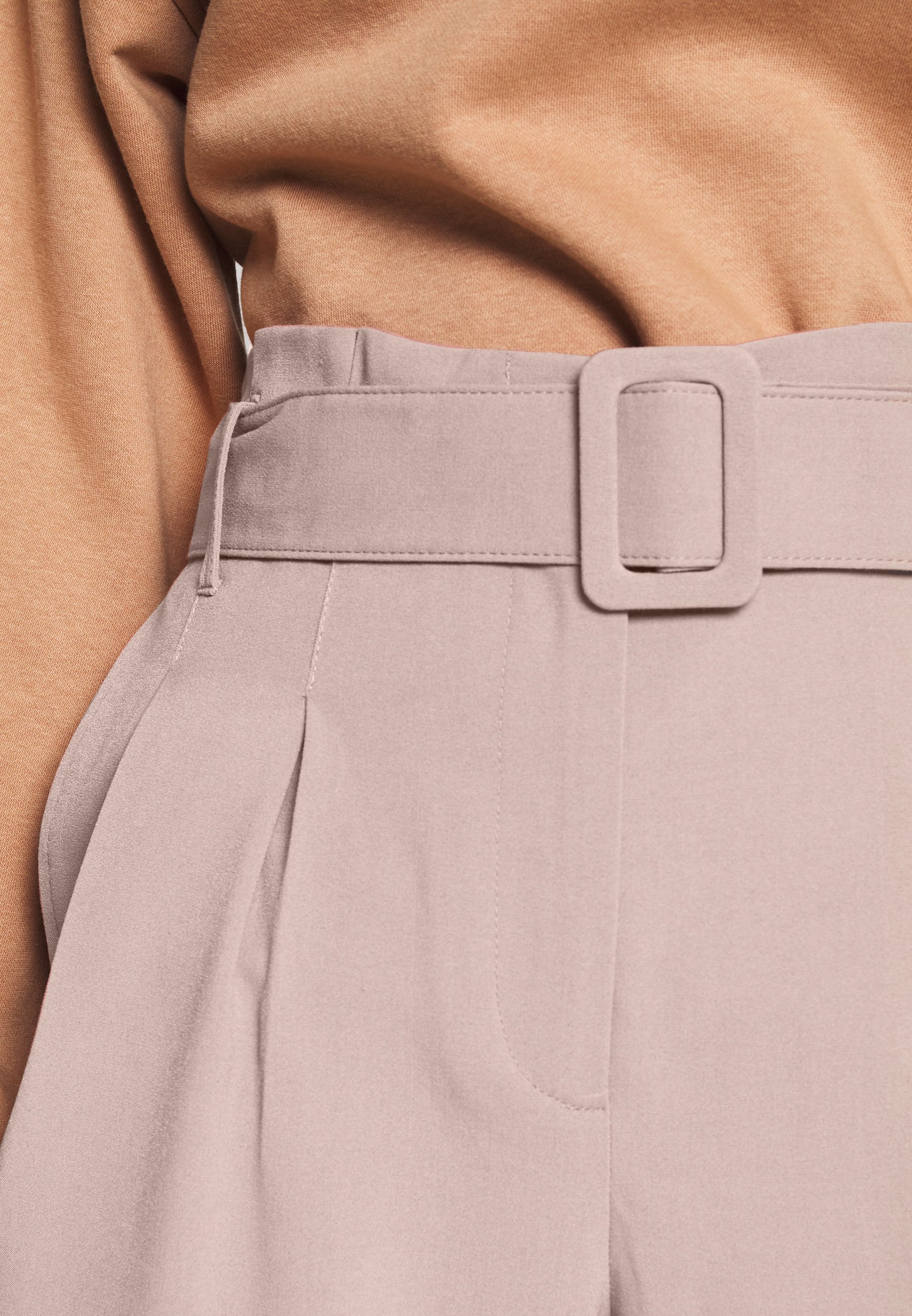 Only Onlsica Paperbag Pants - Tygbyxor Burlwood