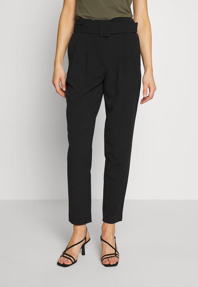ONLSICA PAPERBAG PANTS - Pantalon classique - black