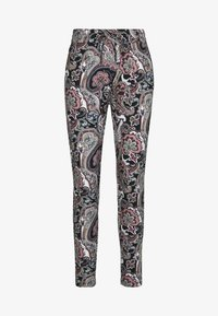 ONLY - ONLPOPTRASH EASY PRINT PANT - Trousers - black - 0