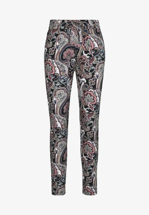 ONLPOPTRASH EASY PRINT PANT - Trousers - black