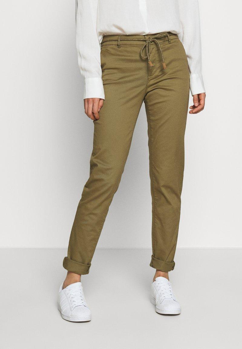 ONLY - ONLMAUDE BONACO CHINO PANT - Trousers - kalamata