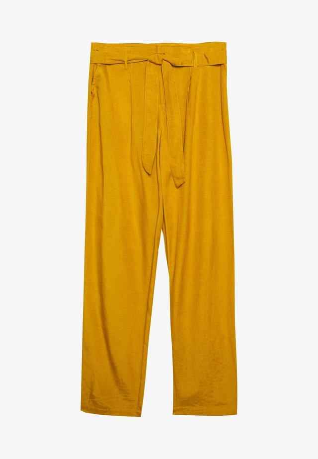 ONLVIVA LIFE BELT PANT - Pantalones - golden spice