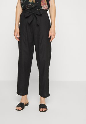ONLVIVA LIFE BELT PANT - Trousers - black