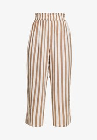 ONLY - ONLASTRID CULOTTE PANTS  - Spodnie materiałowe - cloud dancer/beige stripes - 3