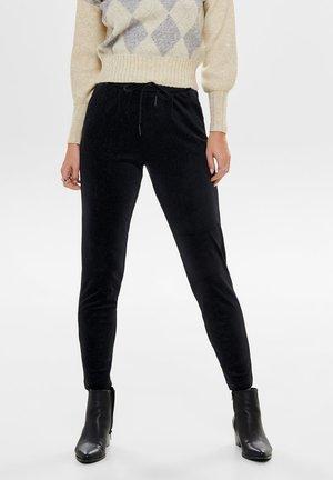 GLITZER - Spodnie materiałowe - black