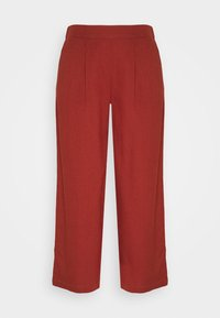 ONLY - ONLCARISA BIBS CULOTTE PANT  - Trousers - burnt henna - 3