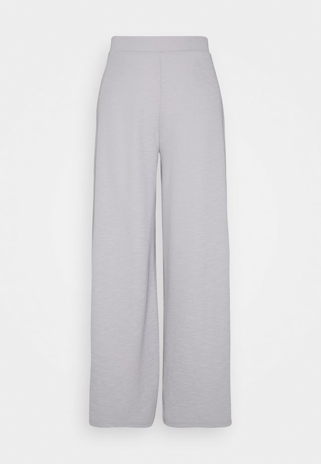 ONLLAYLA WIDE PANTS - Tygbyxor - light grey melange
