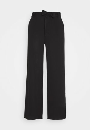 ONLNOVA PALAZZO PANT SOLID - Trousers - black