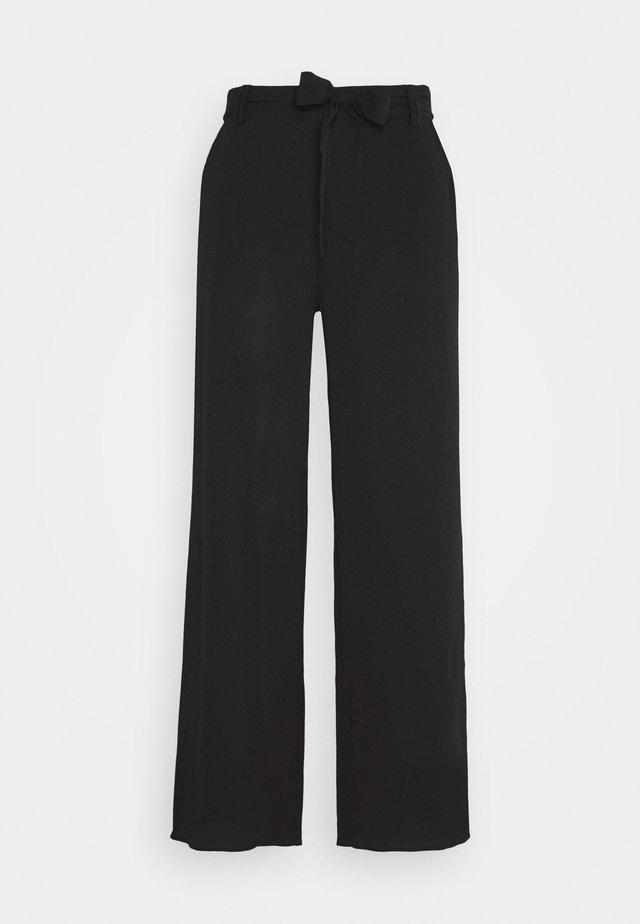 ONLNOVA PALAZZO PANT SOLID - Pantalones - black