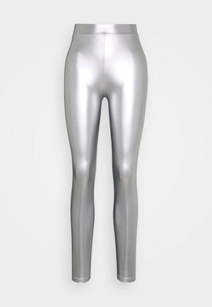 ONLSADIE LONG  - Legging - silver matt