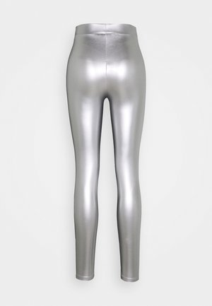 ONLSADIE LONG  - Leggings - silver matt