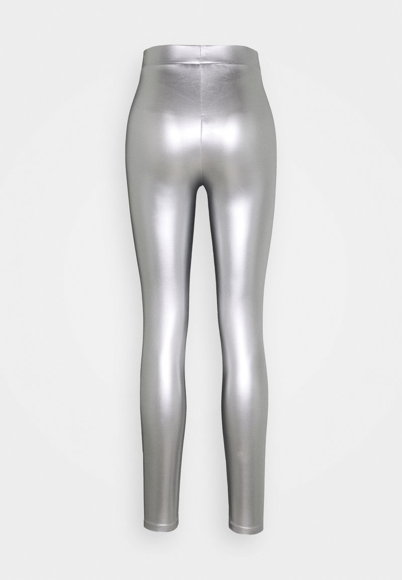ONLY - ONLSADIE LONG  - Leggings - Trousers - silver matt