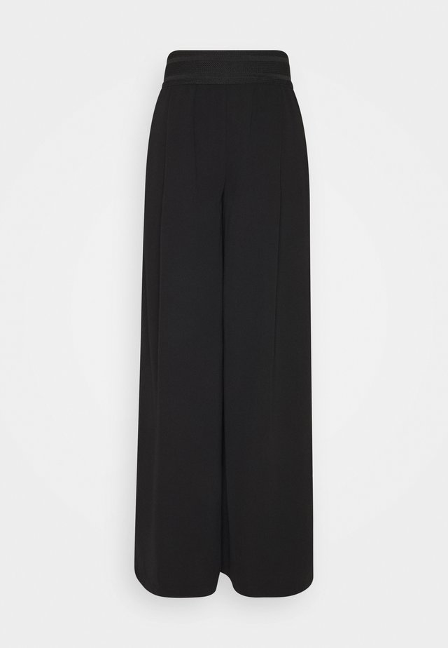ONLALEX LIFE LONG WIDE PANT - Pantalon classique - black