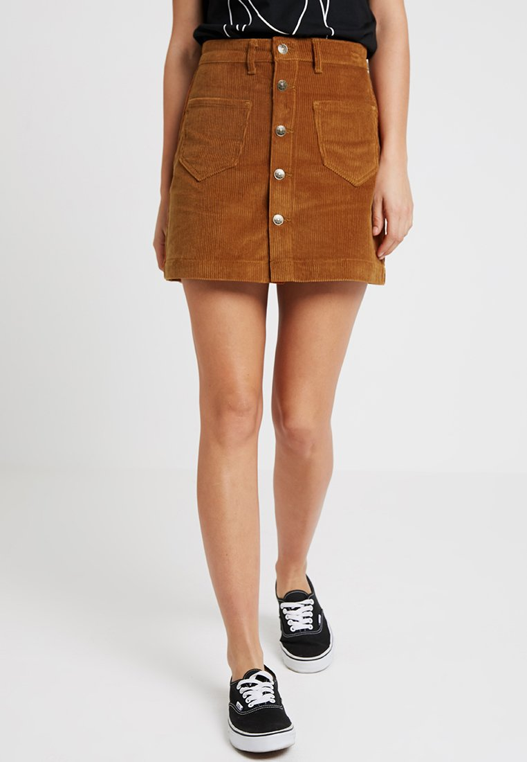 ONLY - ONLAMAZING - Áčková sukně - rustic brown