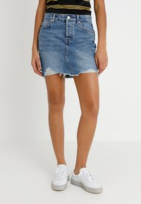 ONLY - ONLSKY SKIRT - Falda vaquera - light blue denim - 0