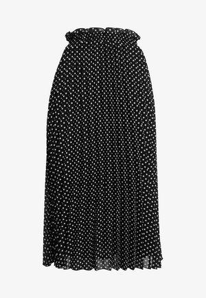 ONLFPAIGE LIFE ABOVE CALF SKIRT - Plisovaná sukně - black/white