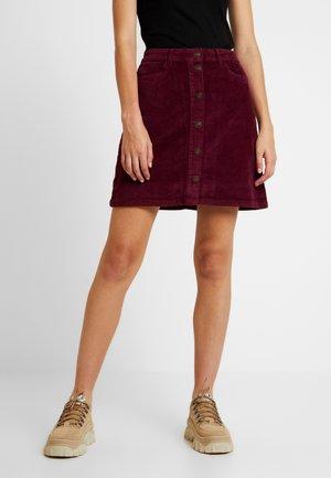 A-line skirt - tawny port