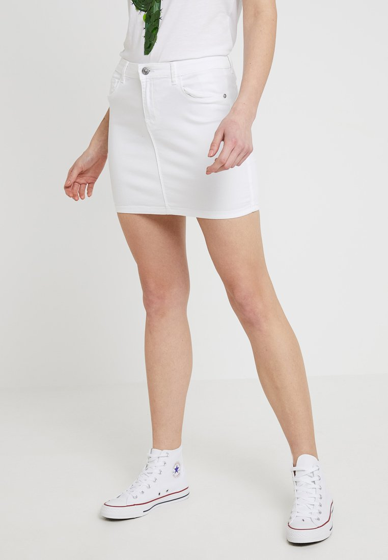 ONLY - ONLRAIN PUSH UP SKIRT - A-Linien-Rock - white