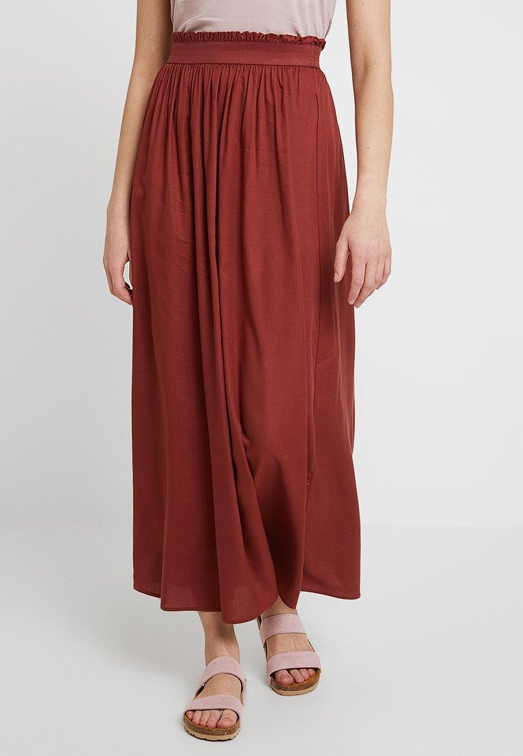 ONLY - ONLVENEDIG  - Maxi skirt - henna
