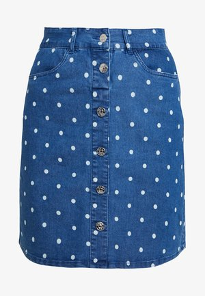 ONLFARRAH HOT DOT SKIRT - Jupe trapèze - medium blue denim