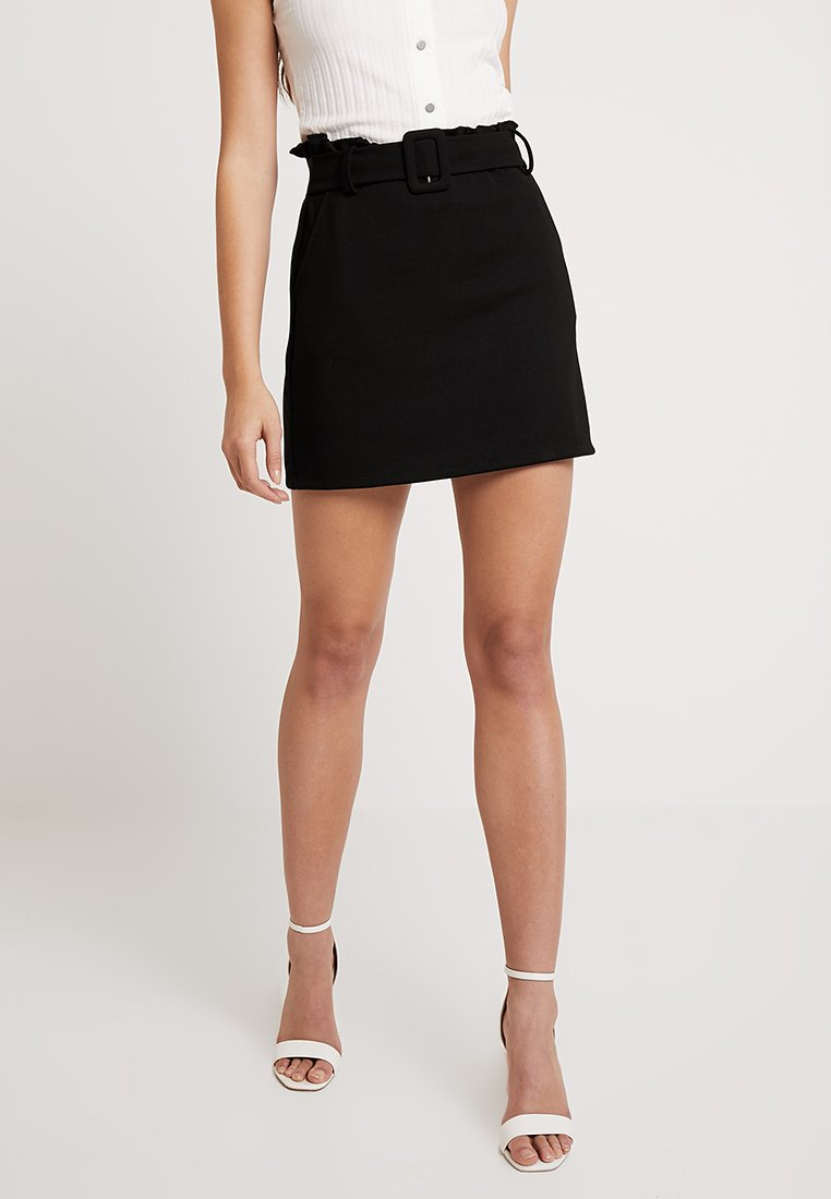 ONLY - ONLGIGI BELT SKIRT - A-line skirt - black
