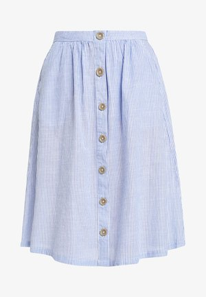 ONYCATHY BUTTON MIDI SKIRT - Pouzdrová sukně - cloud dancer/dazzling blue