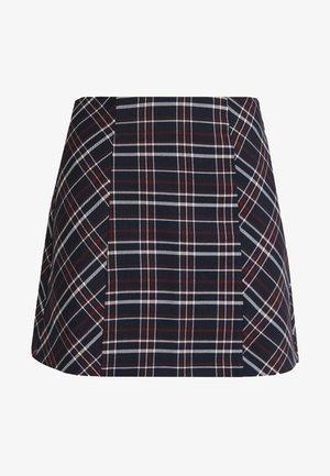 ONYTINA CHECK SKIRT - A-line skirt - night sky/merlot/cloud dancer