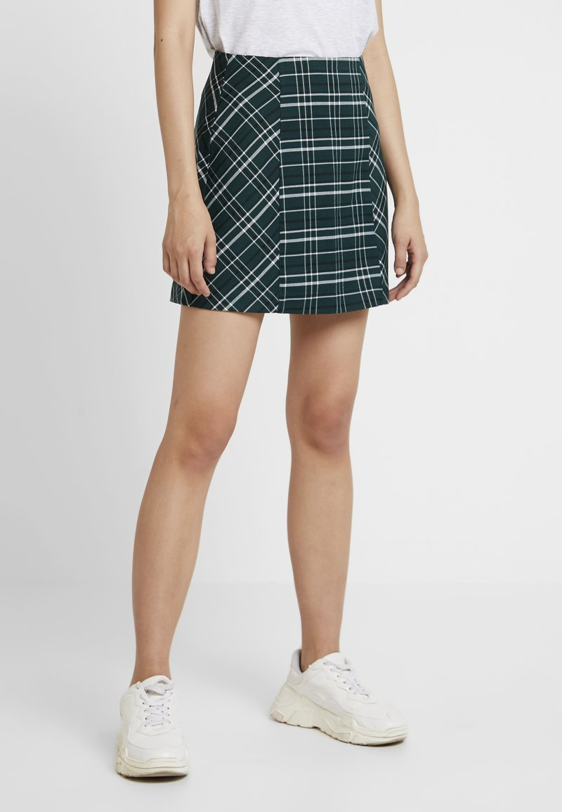 ONLY - ONYTINA CHECK SKIRT - Gonna a campana - ponderosa pine/black