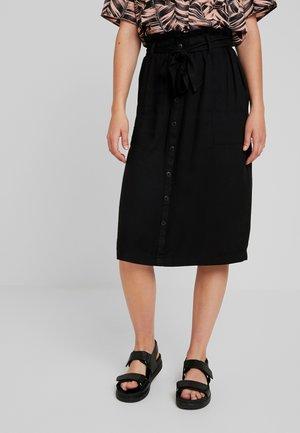 ONYROSSA PAPERBAG MIDI SKIRT - A-line skirt - black