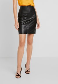 ONLY - ONLMIND SKIRT - Mini skirt - black - 0
